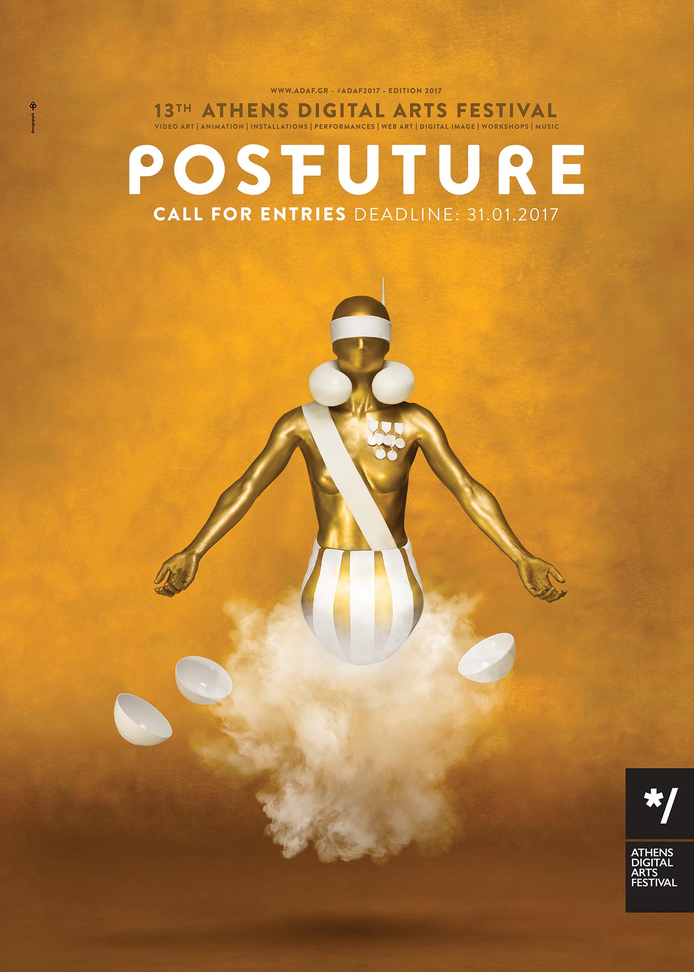 graphic design  postfuture poster festival Digital Arts