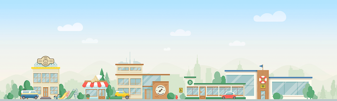 icons illustrations icon set icon pack city town social parents children kids activities search network e-commerce иконки