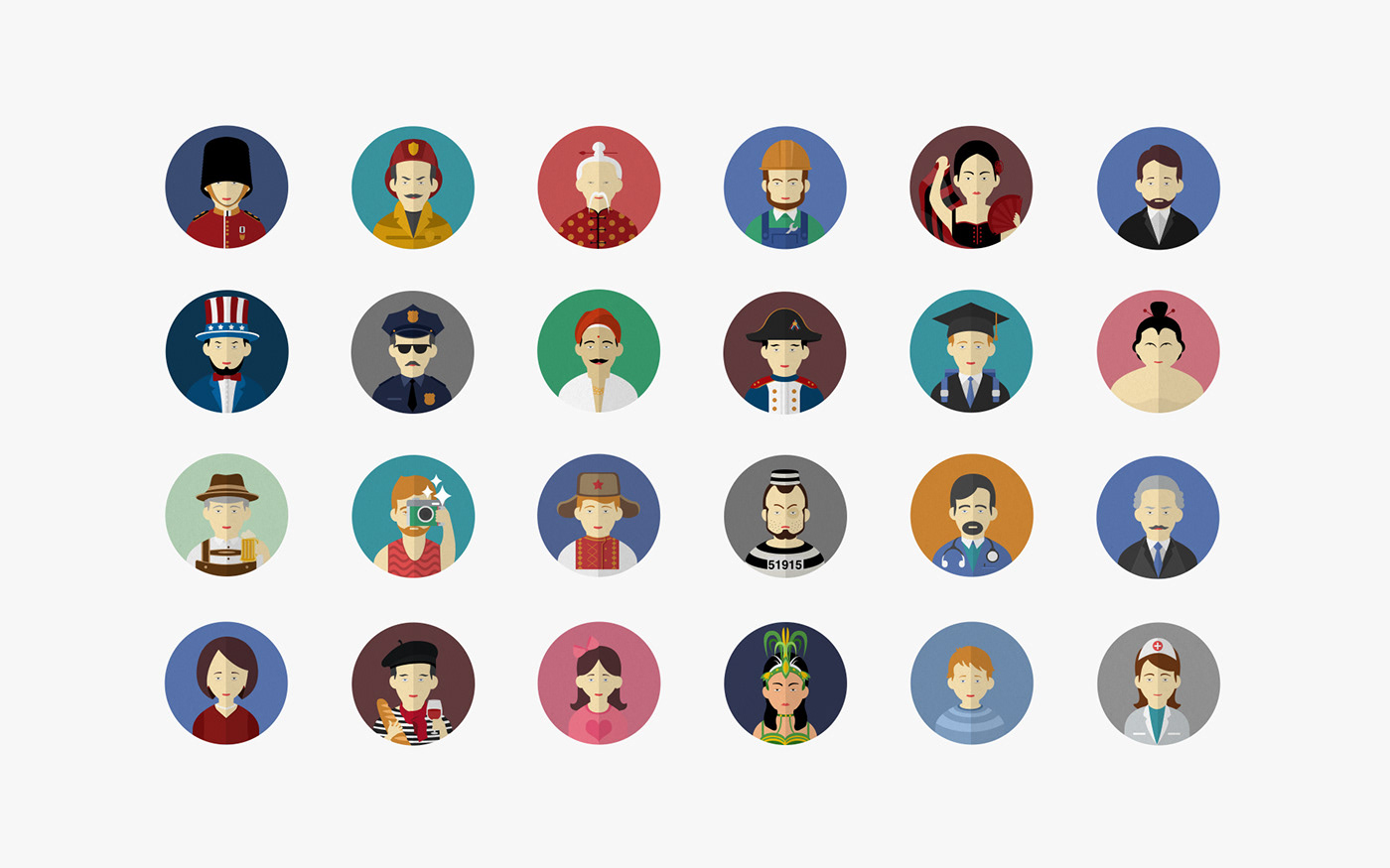 flat icons flat illustrations Vox Mate Languages Education game characters