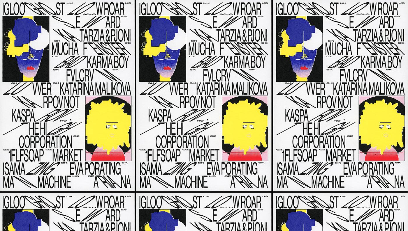 avatar Event festival ILLUSTRATION  music typography   graphic design  poster print screenprint