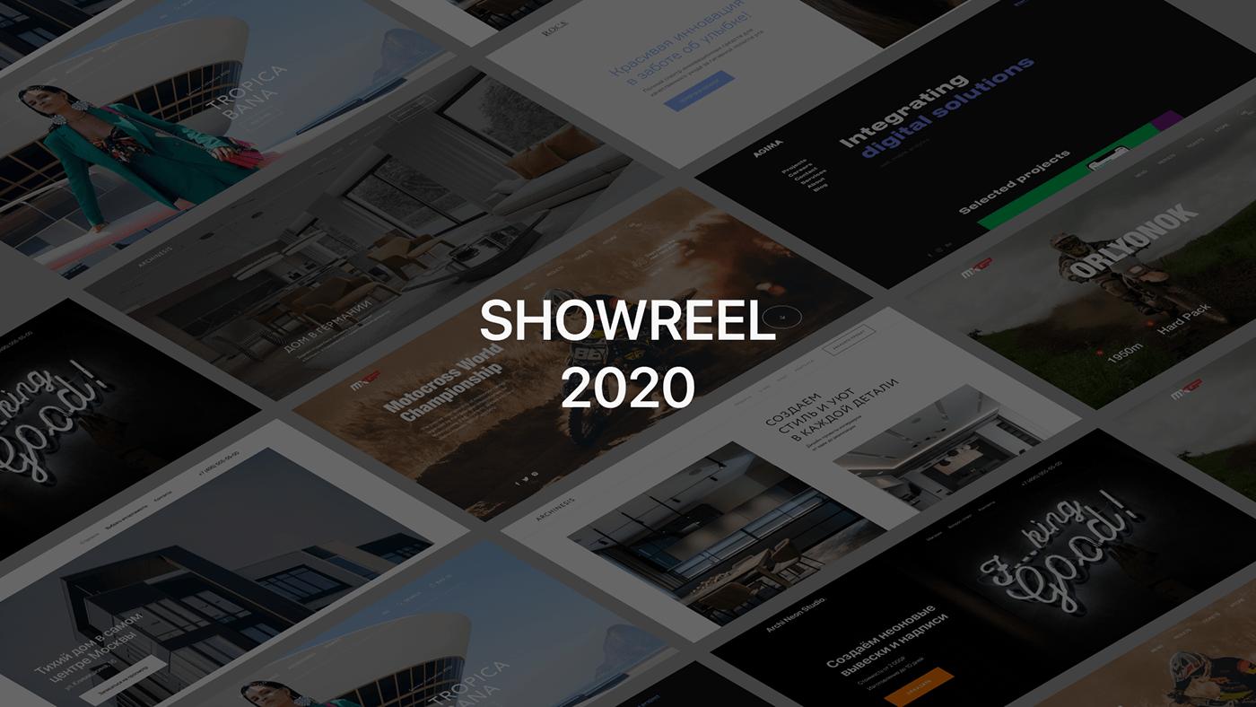 design minimal showreel UI ux Web Website