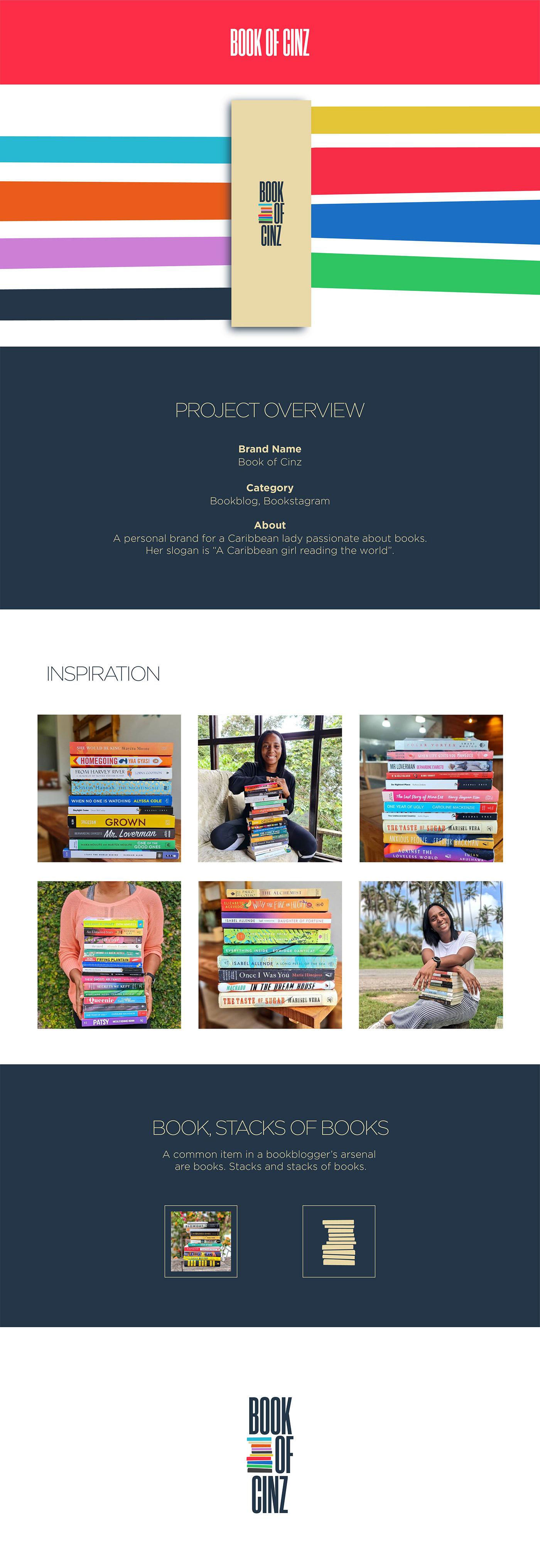 Identity design for book blogger