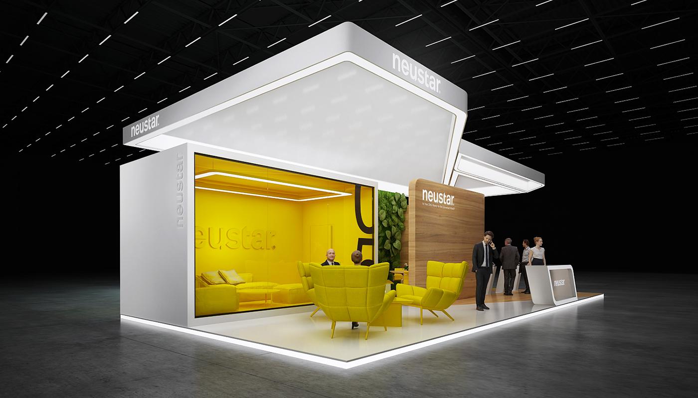 Exhibition Booth Design D : Neustar exhibition stand on behance