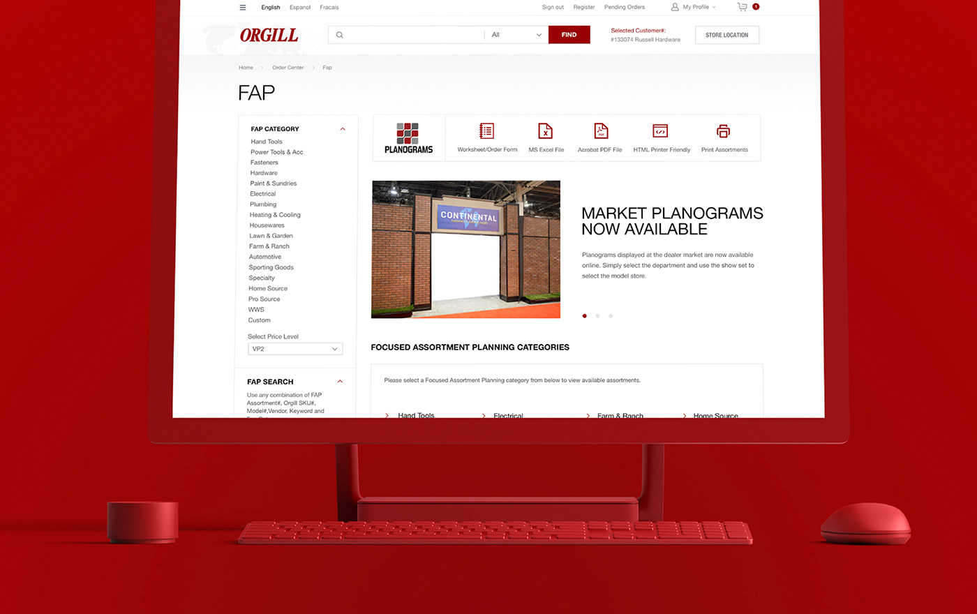 product red UI ux Website art direction  branding  e-commerce UI/UX Design Webdesign