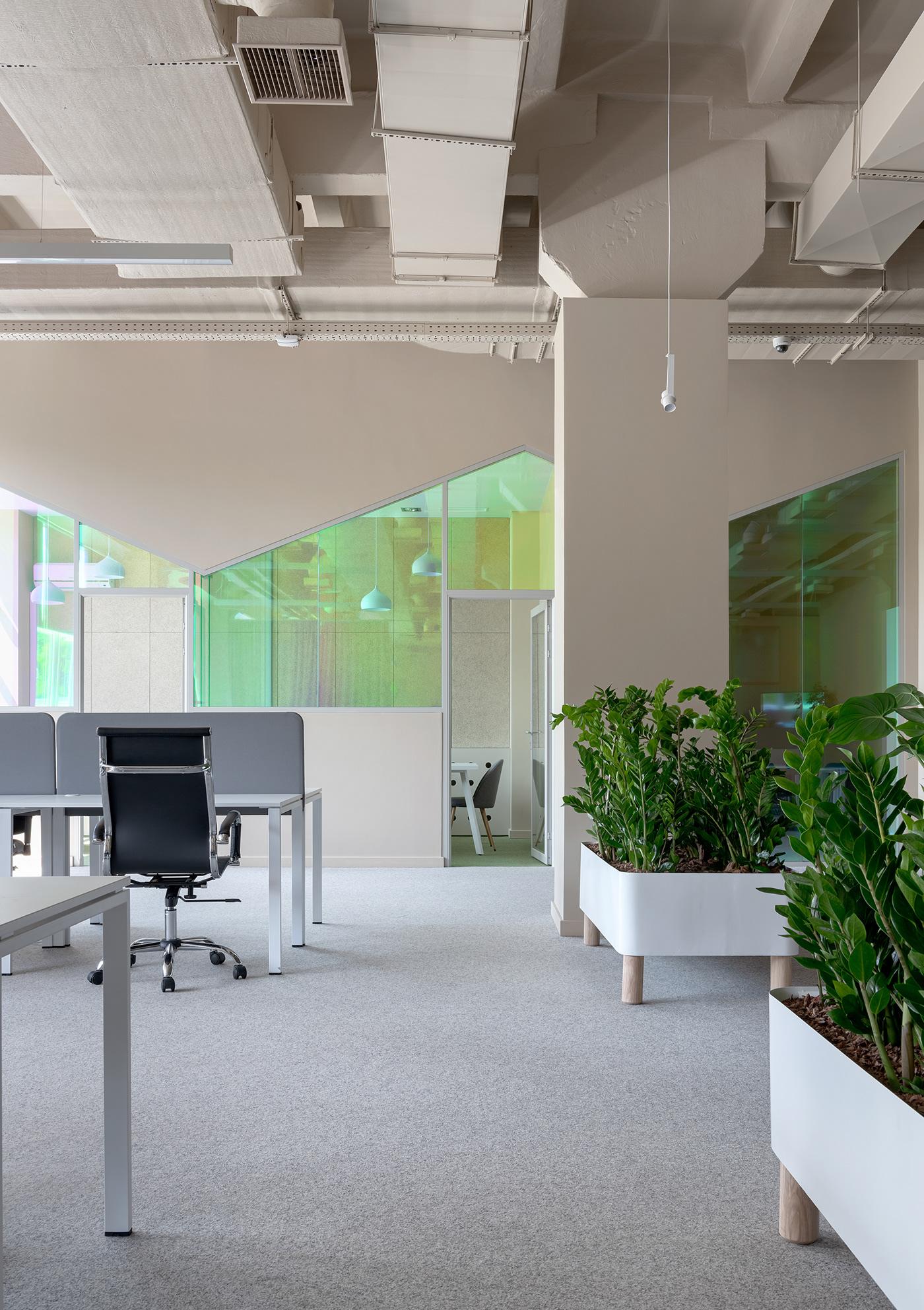 Office Office interior Office Design interior design  dichroic modern office Interior
