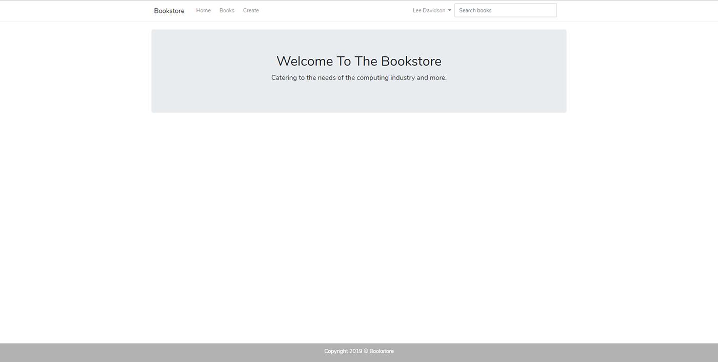 php laravel mysql Bookstore