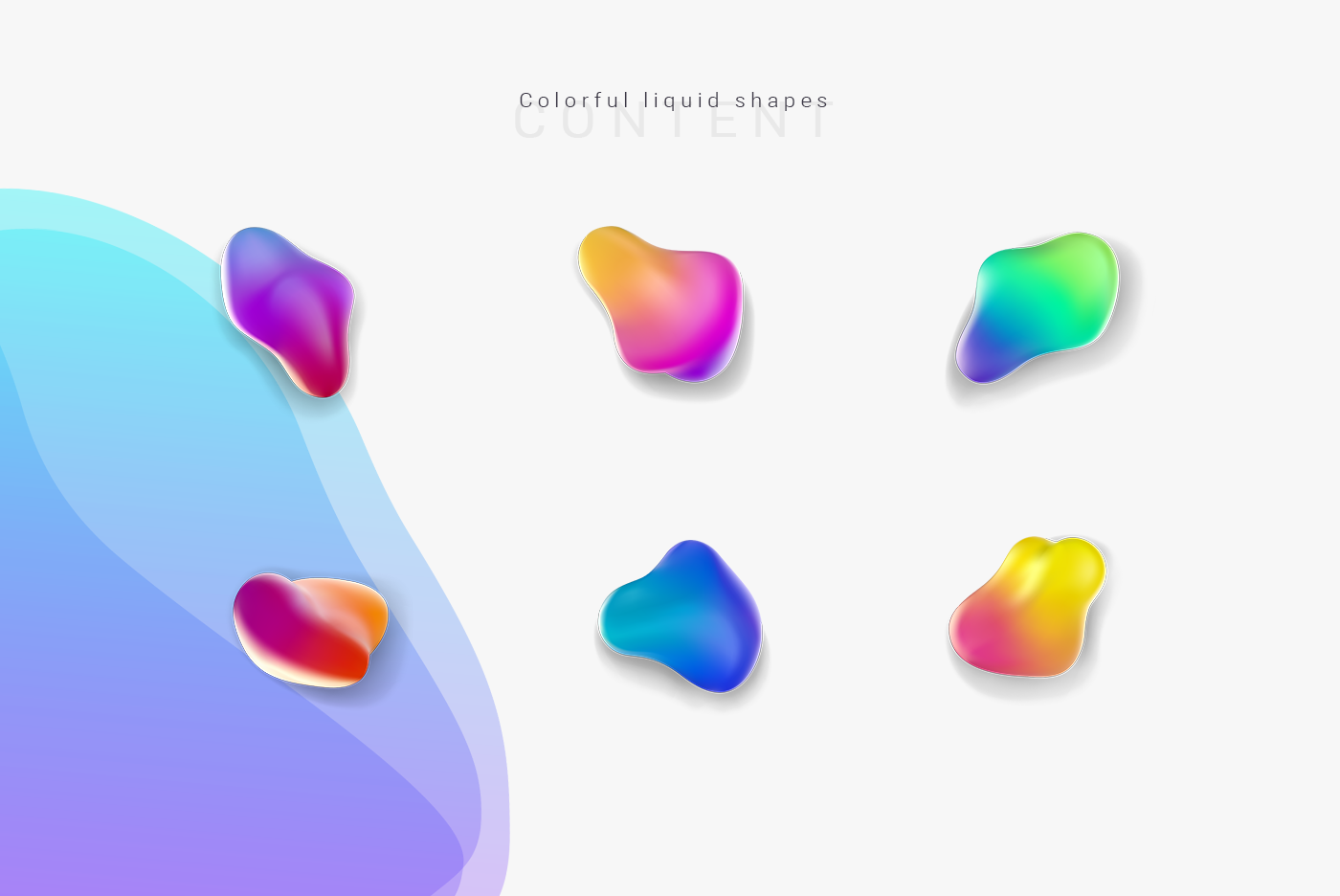 abstract shape Liquid colorful vector fluid bright free free download freebie