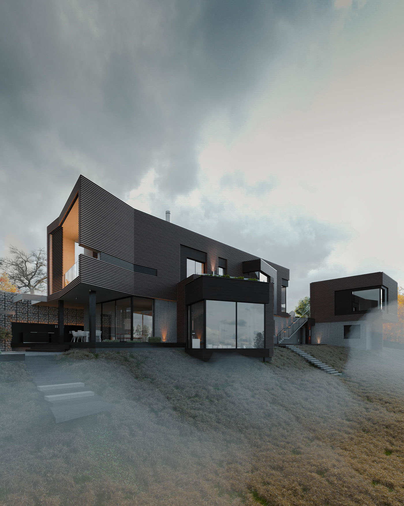 architecture Greyness Cottage atmospheric fog Render