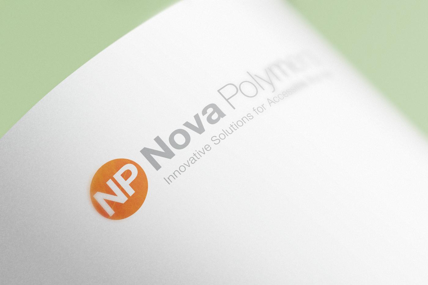 Nova Polymers Logo Design on Paper