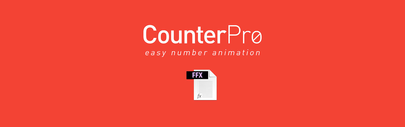 CounterPro - Free AE Preset on Behance