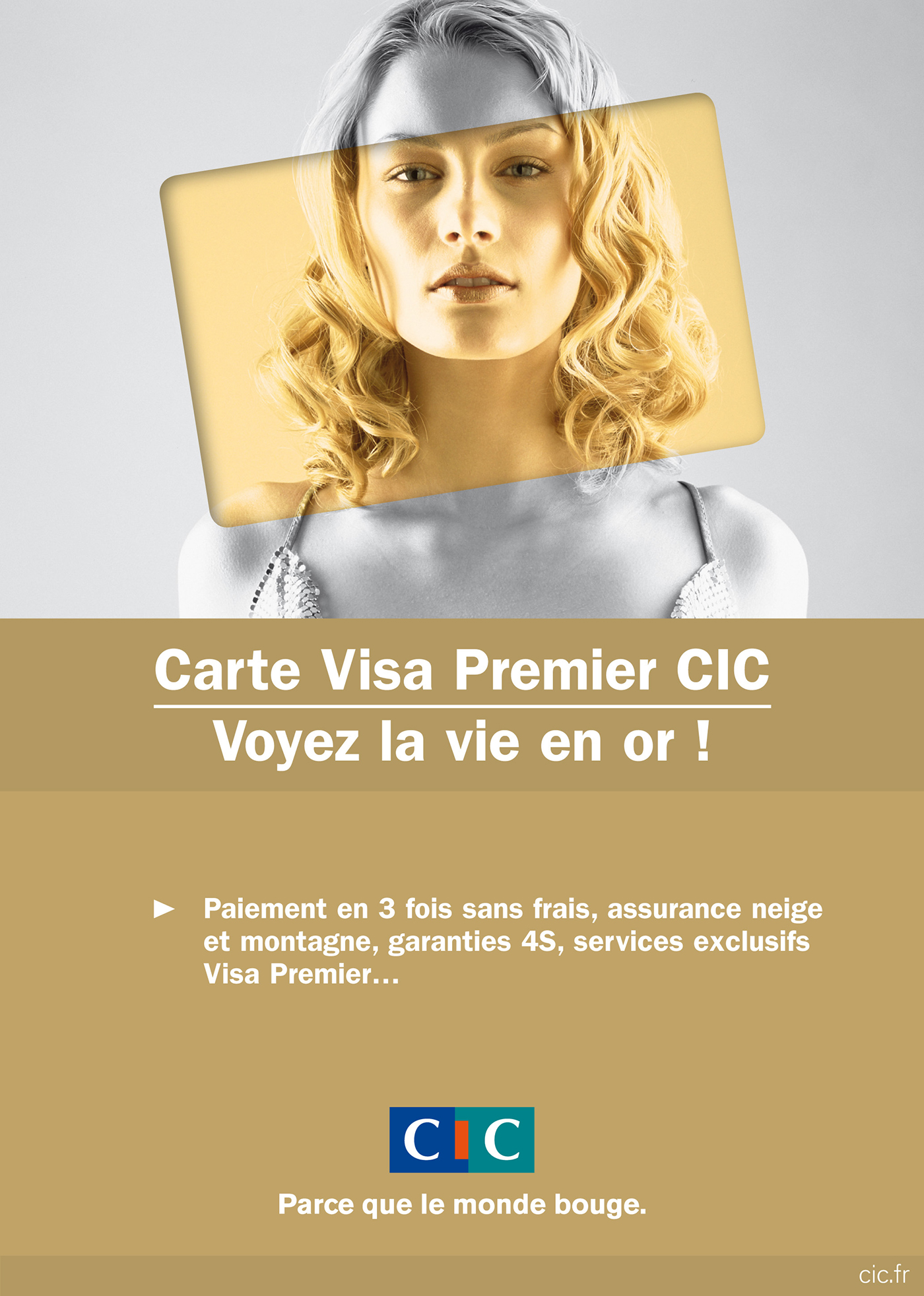 assurance carte gold visa Cic banques on Behance