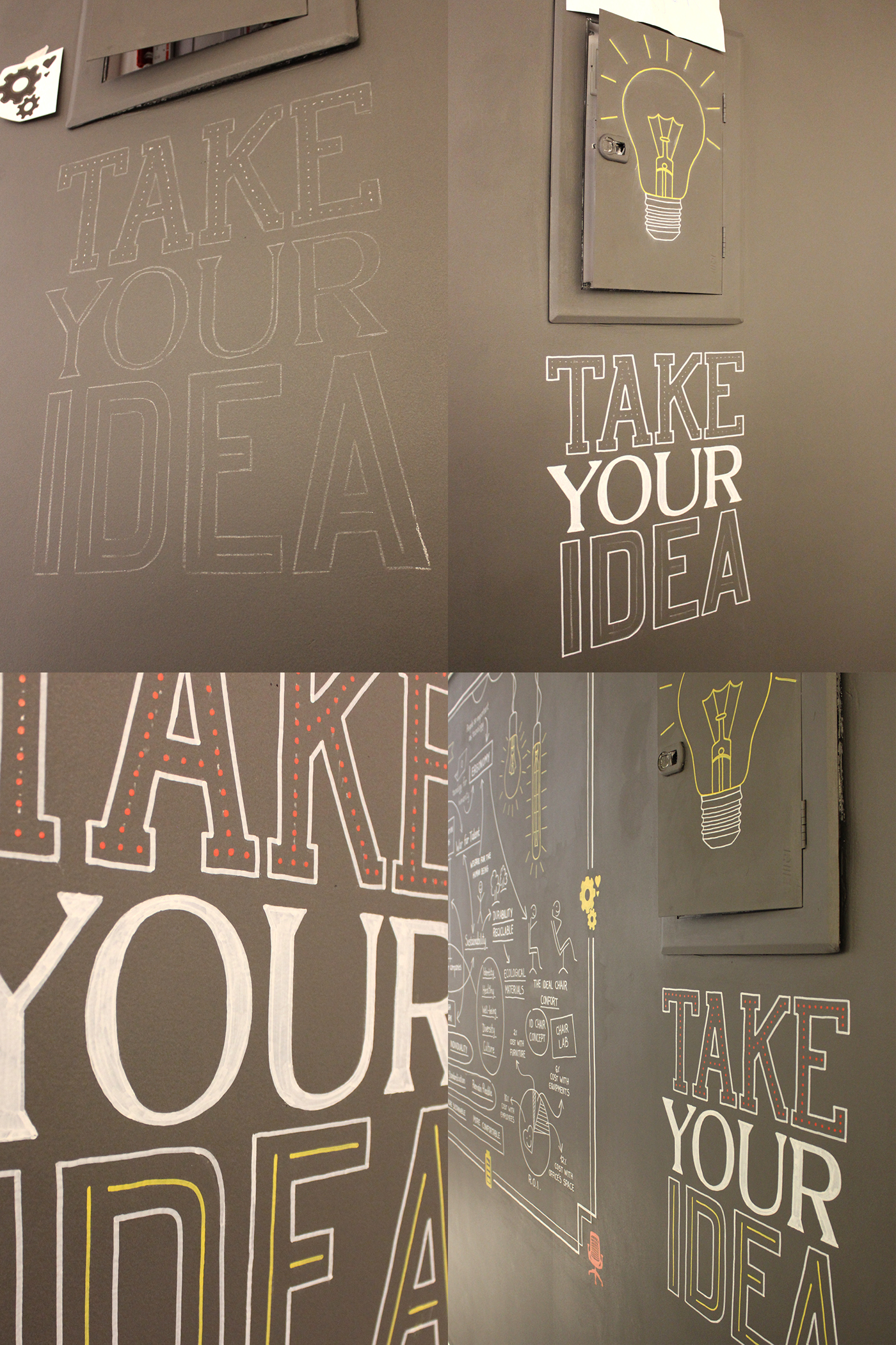 lettering Chalkboard Calligraphy   typography   chalk