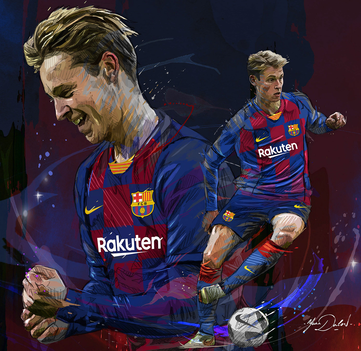 Frenkie De Jong Fc Barcelona On Behance