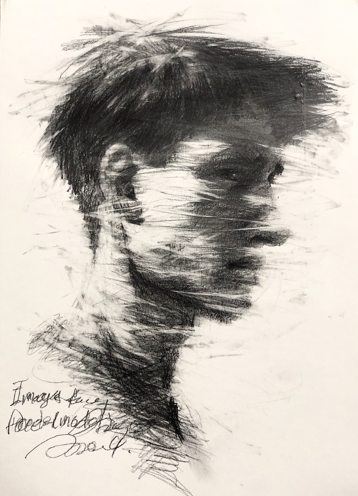 artist artwork body Drawing  emotion face image line model pain painting   paper