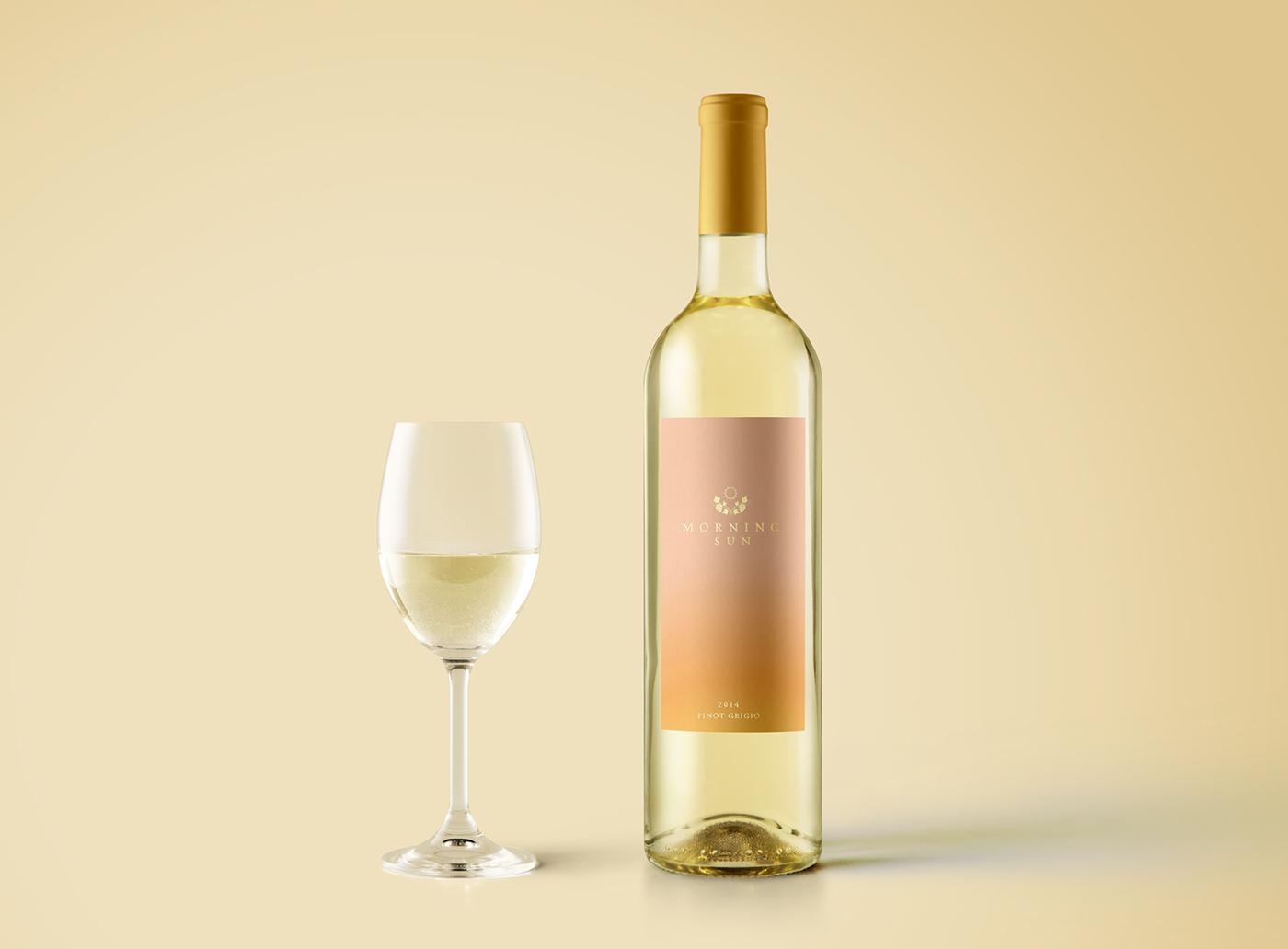 Packaging wine Australia gradient gold foil Rebrand branding  vineyard