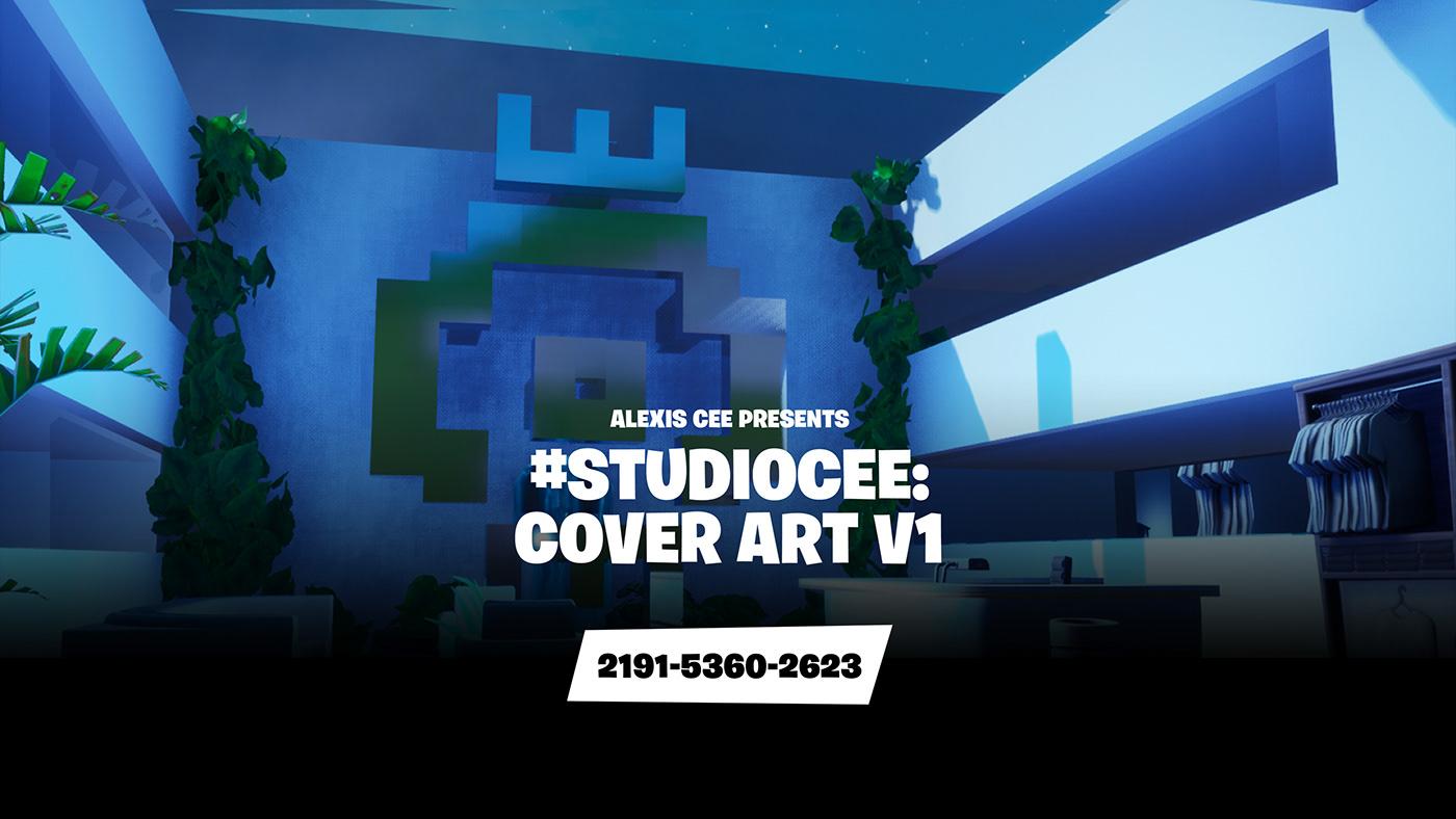 Cover Art Epic Games Exhibition  Exhibition Design  Fortnite fortnite creative game design  interactive design music music design