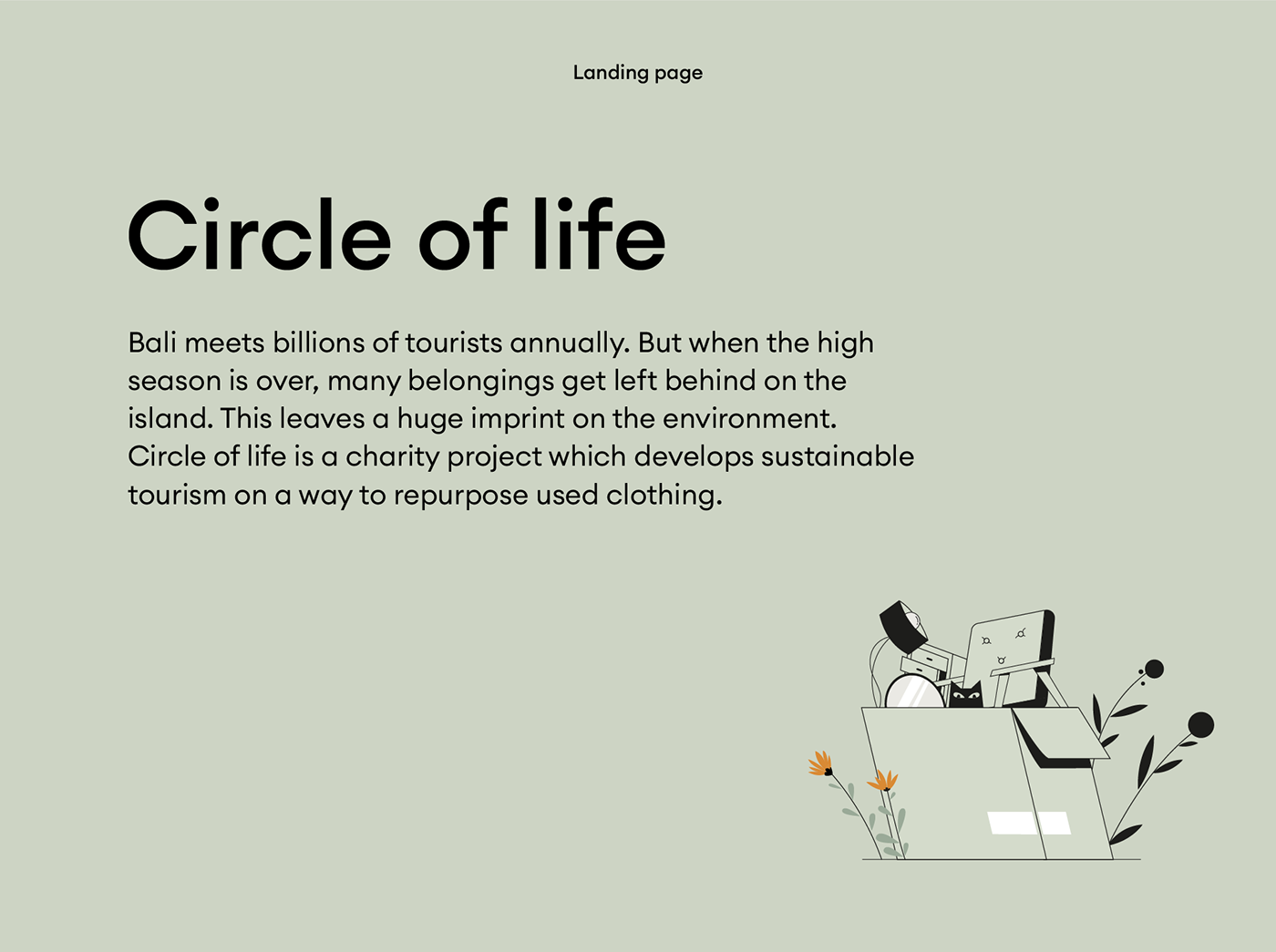 Landing page for Circle of life project