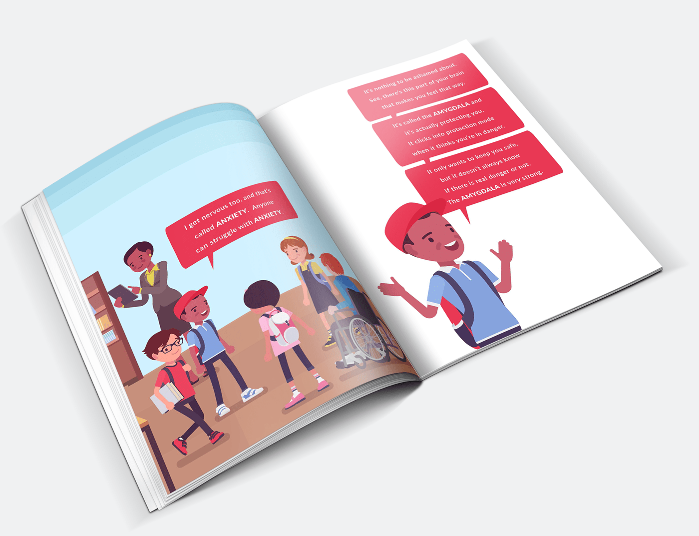 anxiety book Booklet children elementary