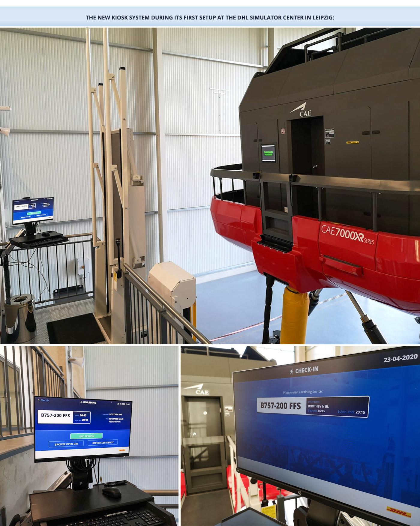 aviation DHL Kiosk product design  prototype simulator touch xD
