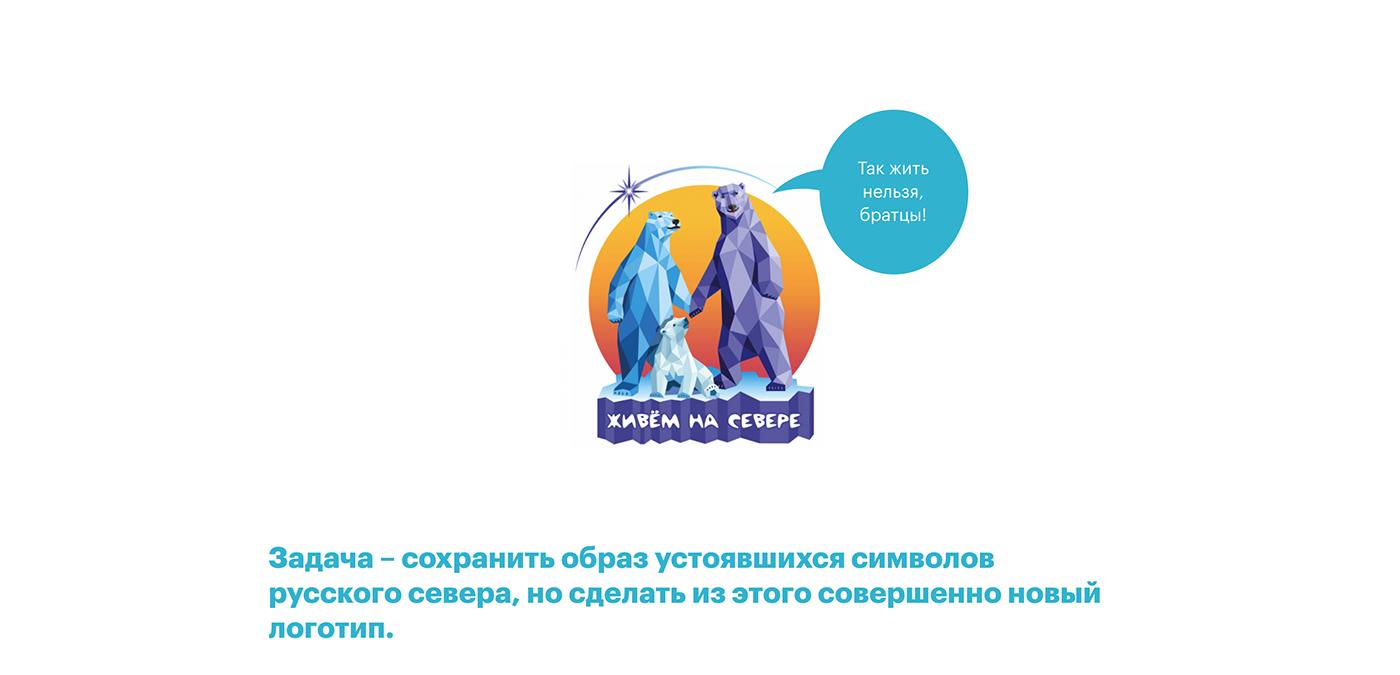 branding  logo брендинг логотип север фирменный стиль янао