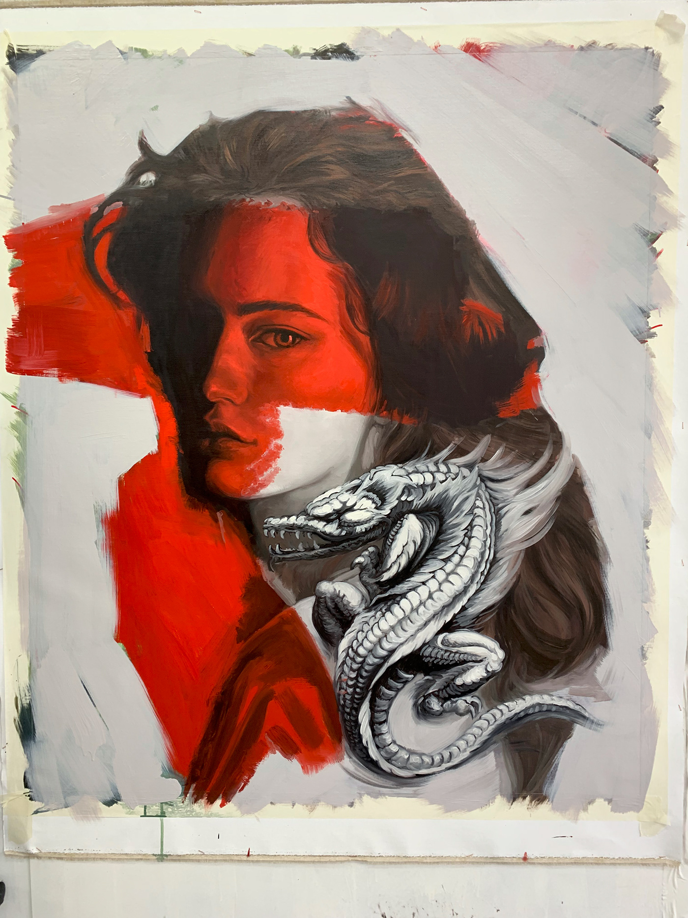 Bellas artes fine art Illustrator Mural oil oil on canvas painting   pintura streetart