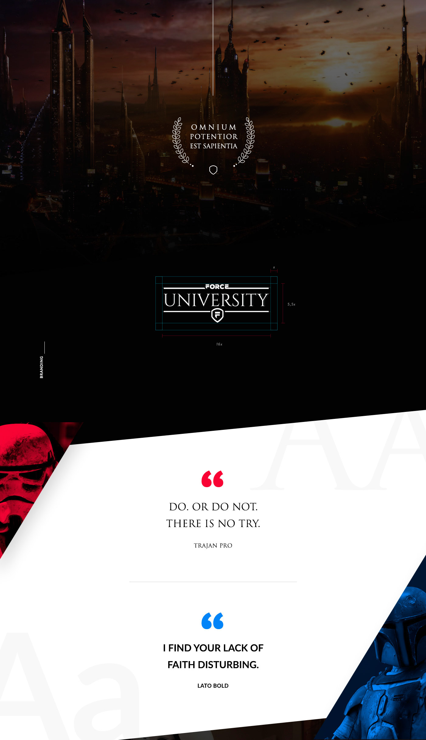 star wars jedi sith R2D2 Web brand app ux UI campus University icons faculty force padawan