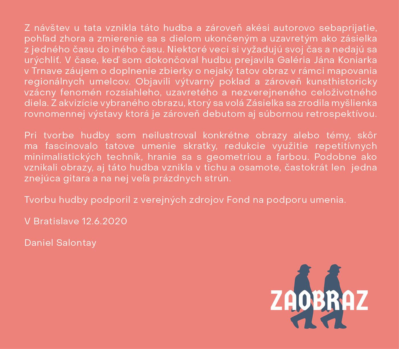 behun CD cover Daniel Salontay graphic design  humenne music packing painting   Zaobraz