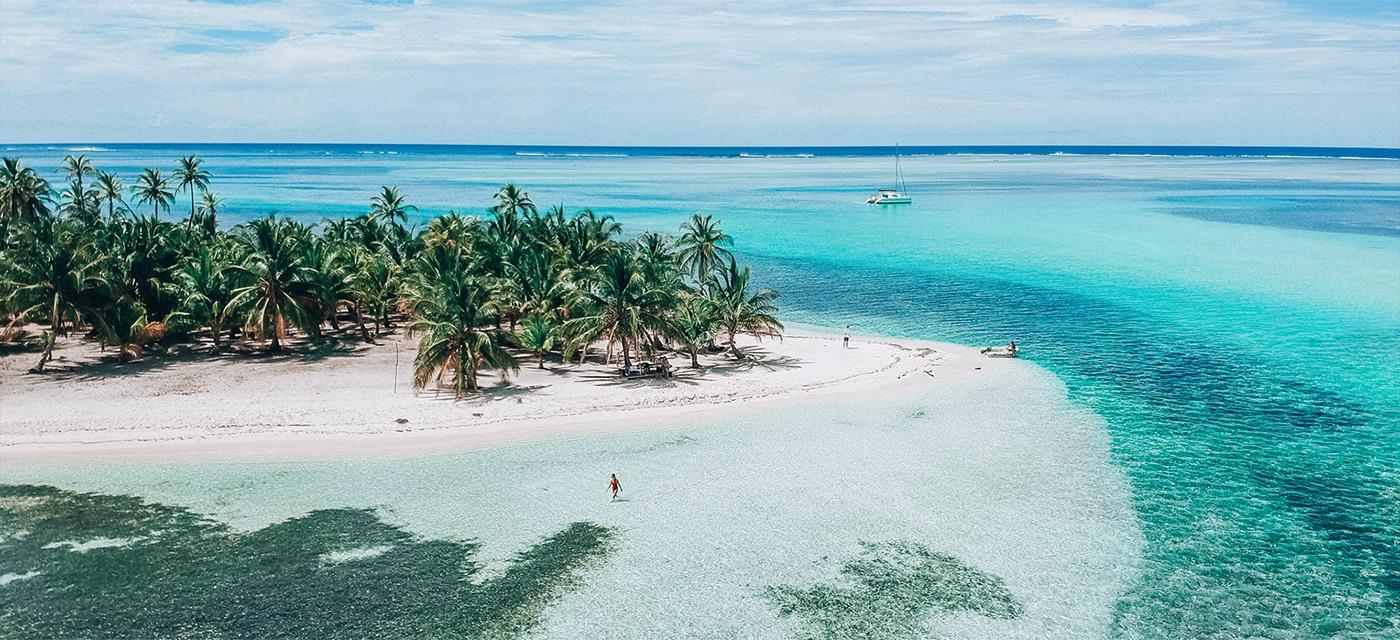 beach Island Ocean palm panama sea Tropical UI Web