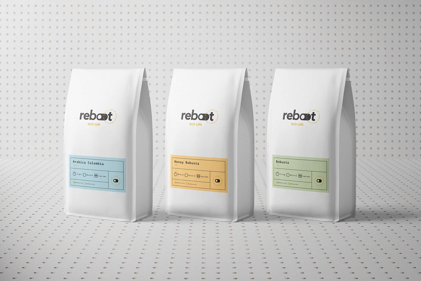 branding  cafe Coffee coffee shop Packaging drink Food  identity Logotype Technology