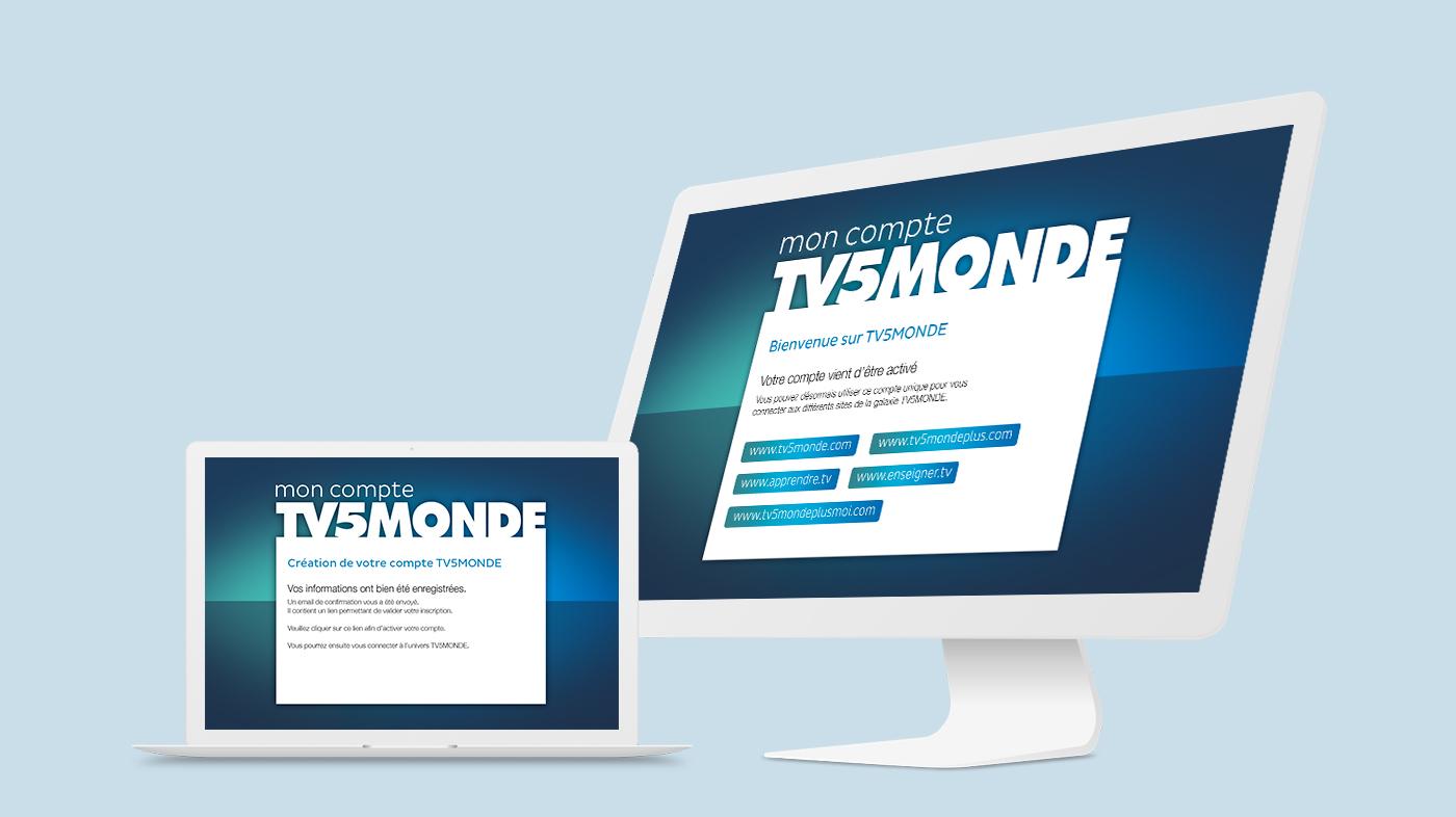 Connexion SSO login module connection TV5 tv5monde Webdesign ux UI