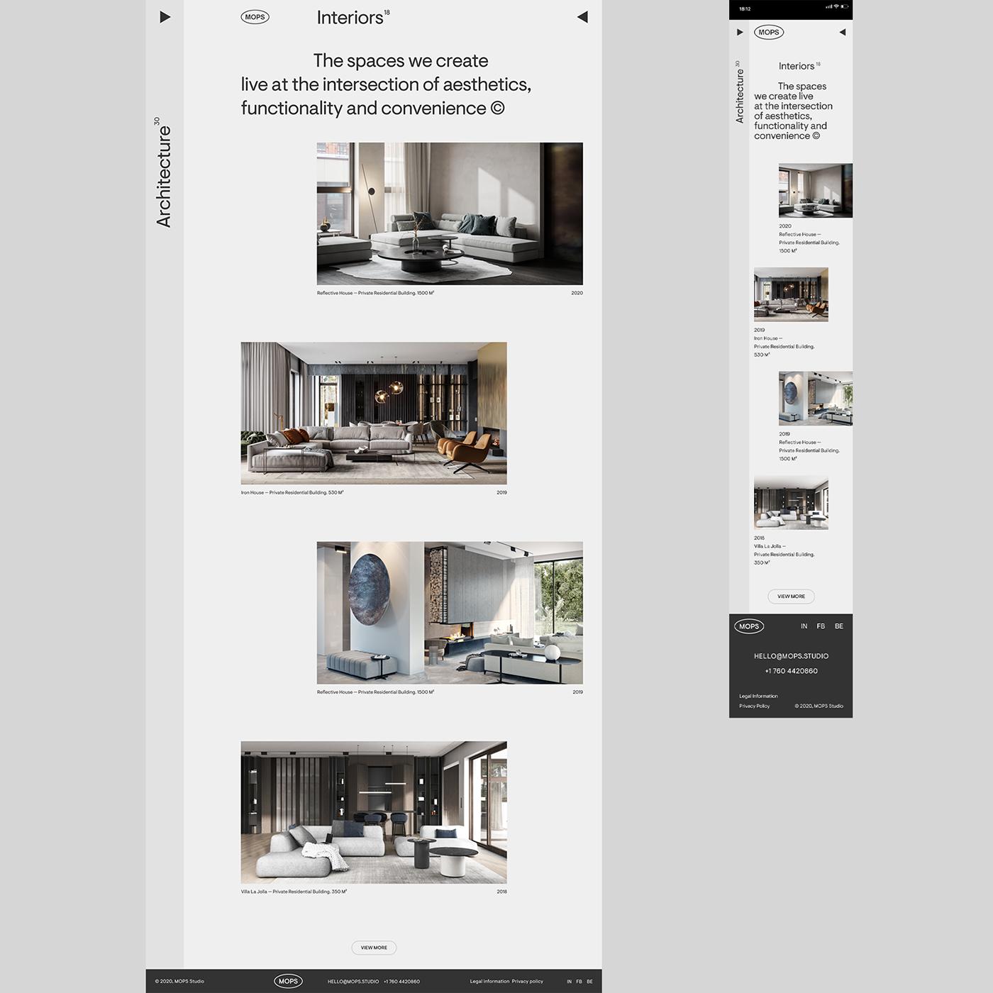 architecture design Interface Interior mobile studio UI ux Website logo
