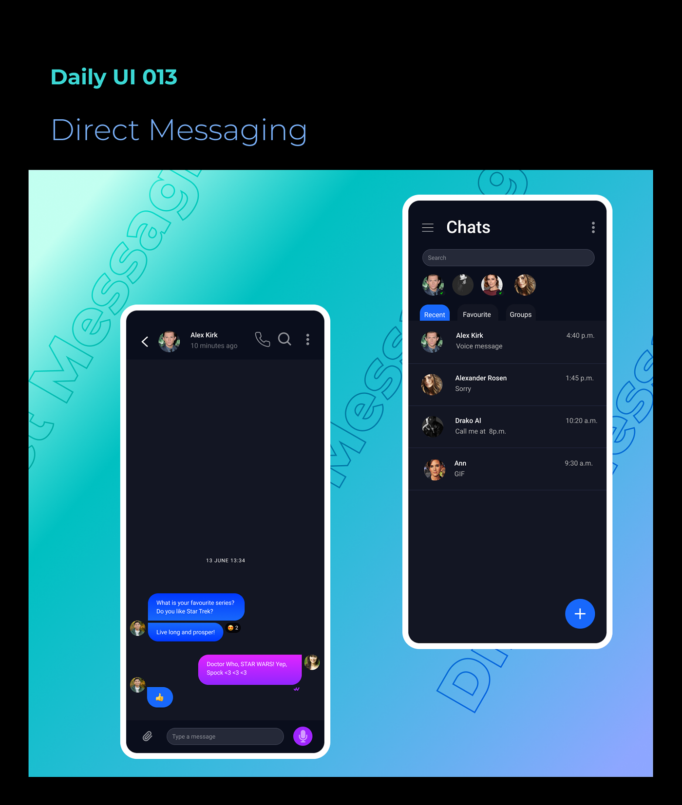 Direct Messaging dailyUI 013