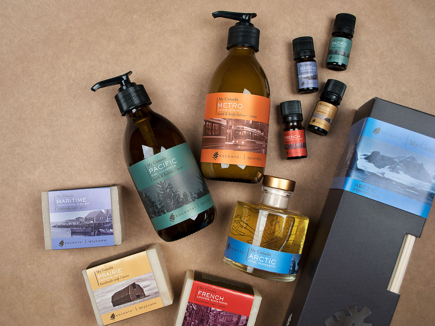 bath products Packaging bottles labels