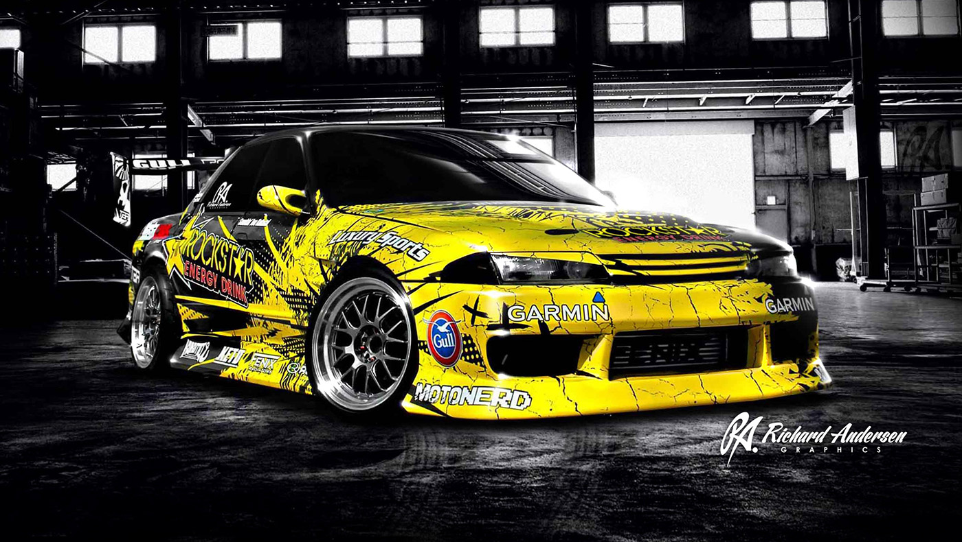 Joe Kukutai Drift Car Wrap Design On Behance