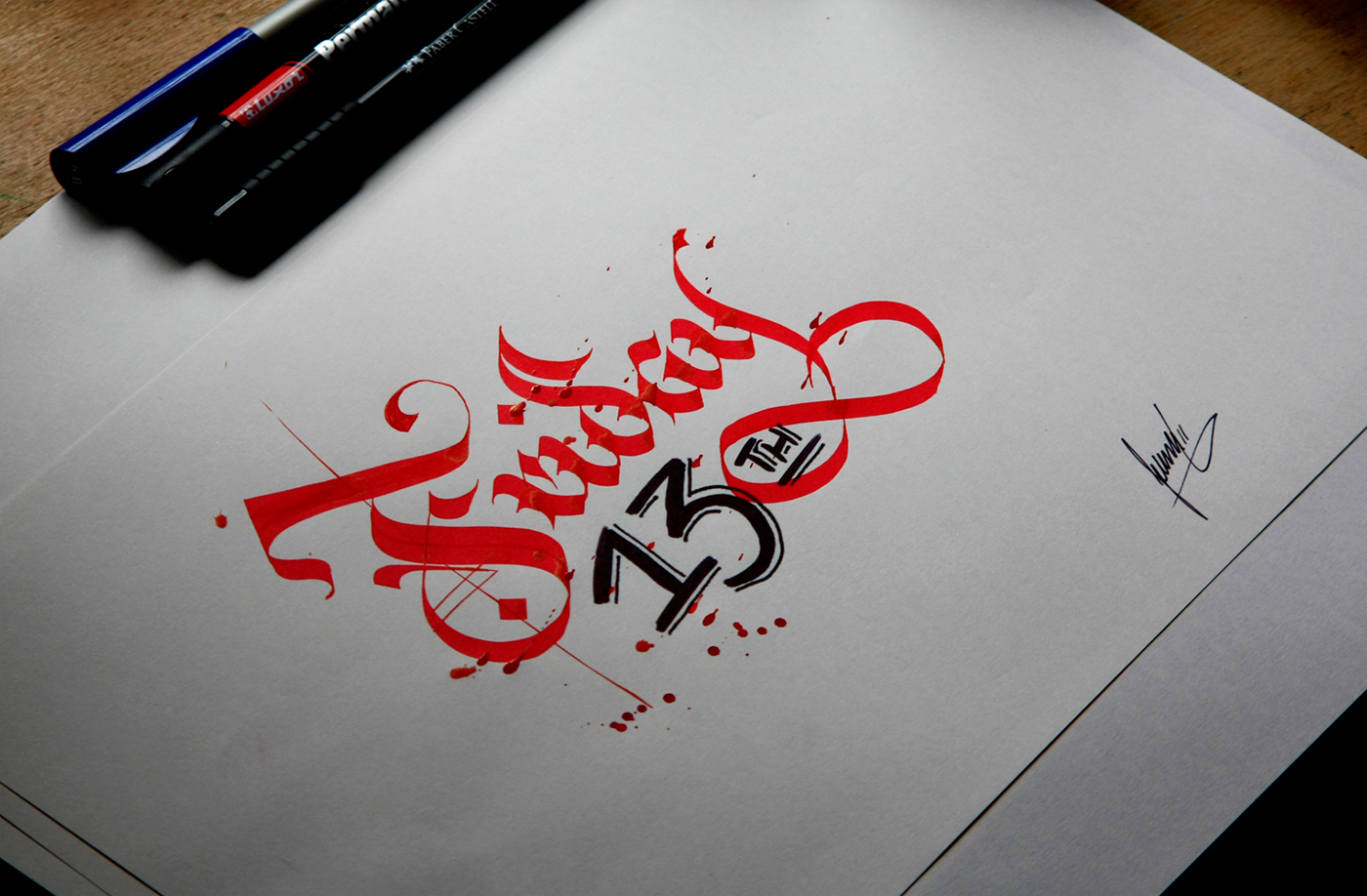 Old Ink Calligraphy On Behance