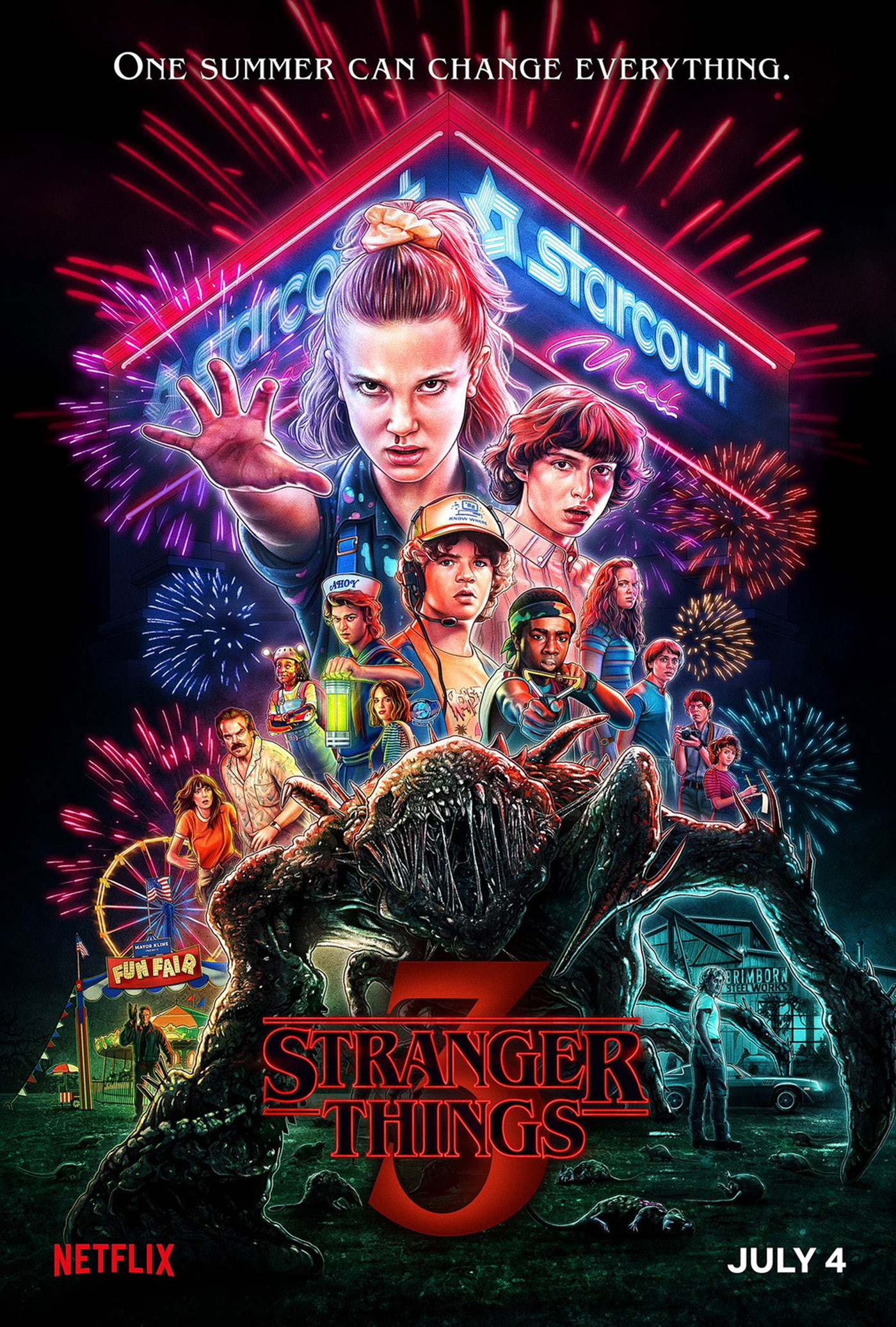Strangers Things 3: Official Season Poster