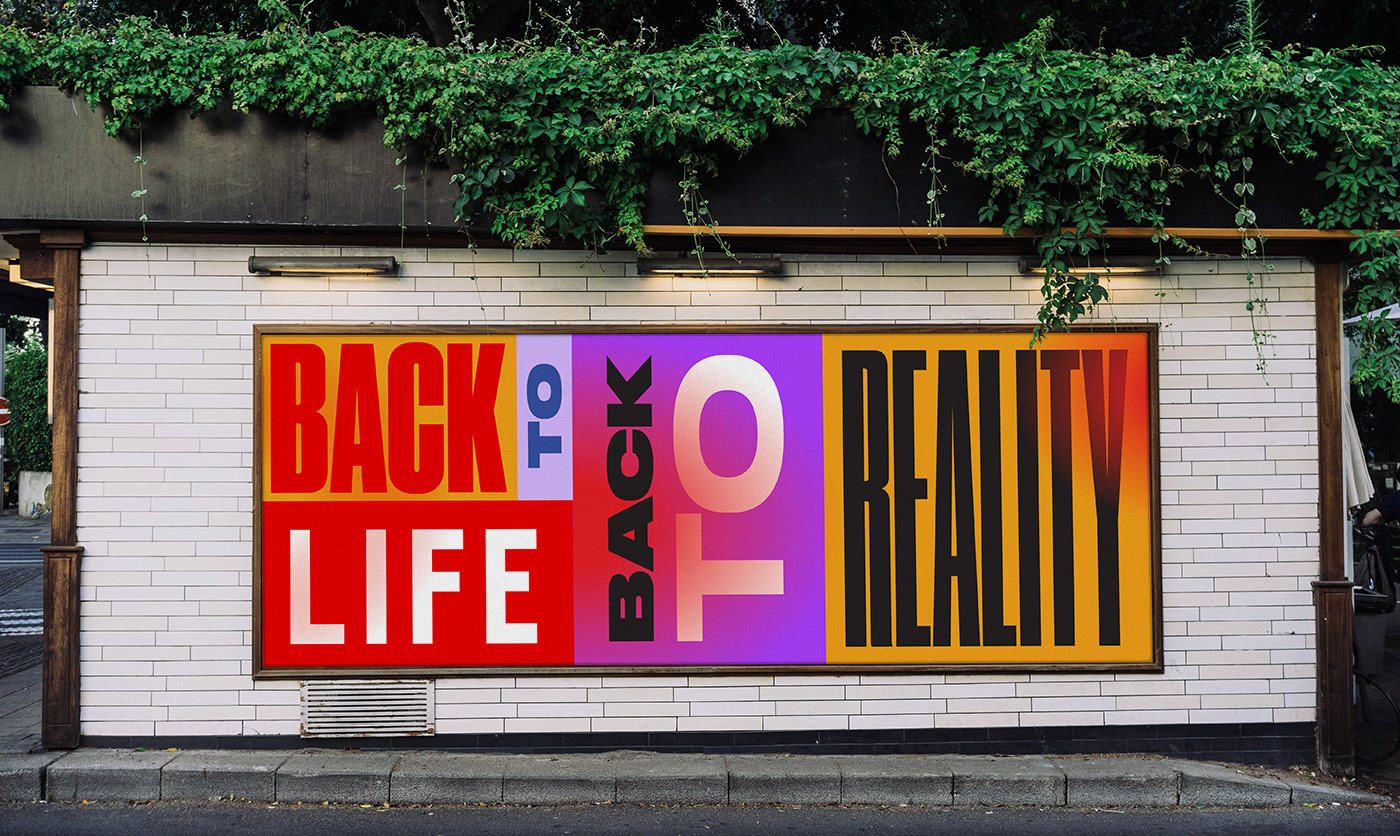 Pure Fun Typography on Billboards - Songs And The City series