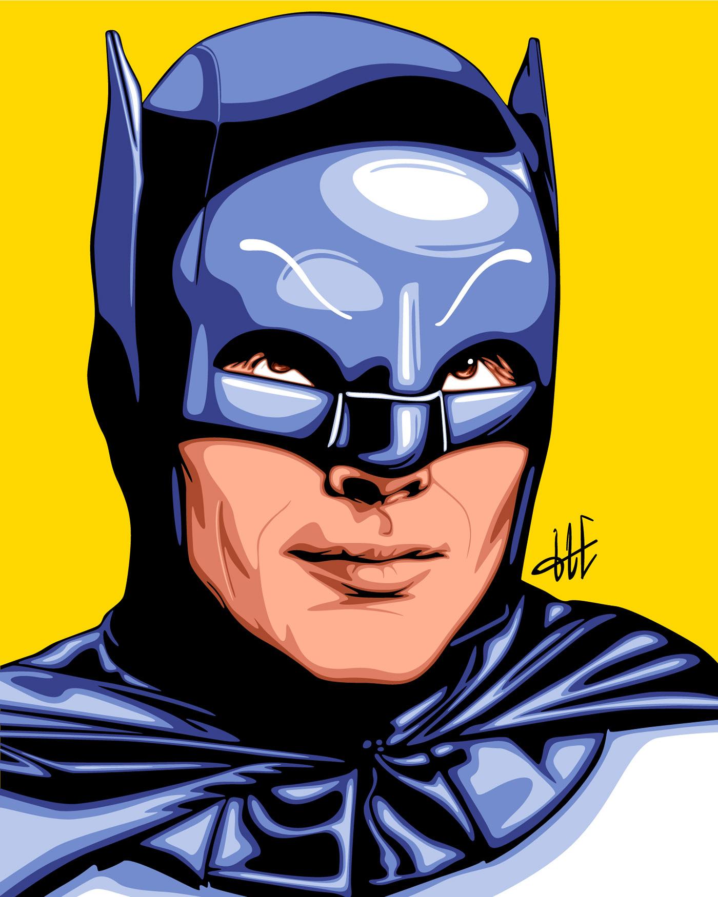 Adam West 'BATMAN'  İllüstrasyonu Çalışması