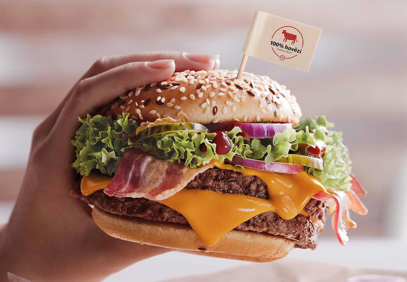McDonald's Stamp Hamburger Mockup