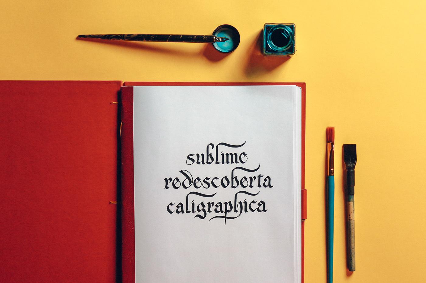 """Contracapa do livro com o título """"Sublime Redescoberta Caligraphica"""""""