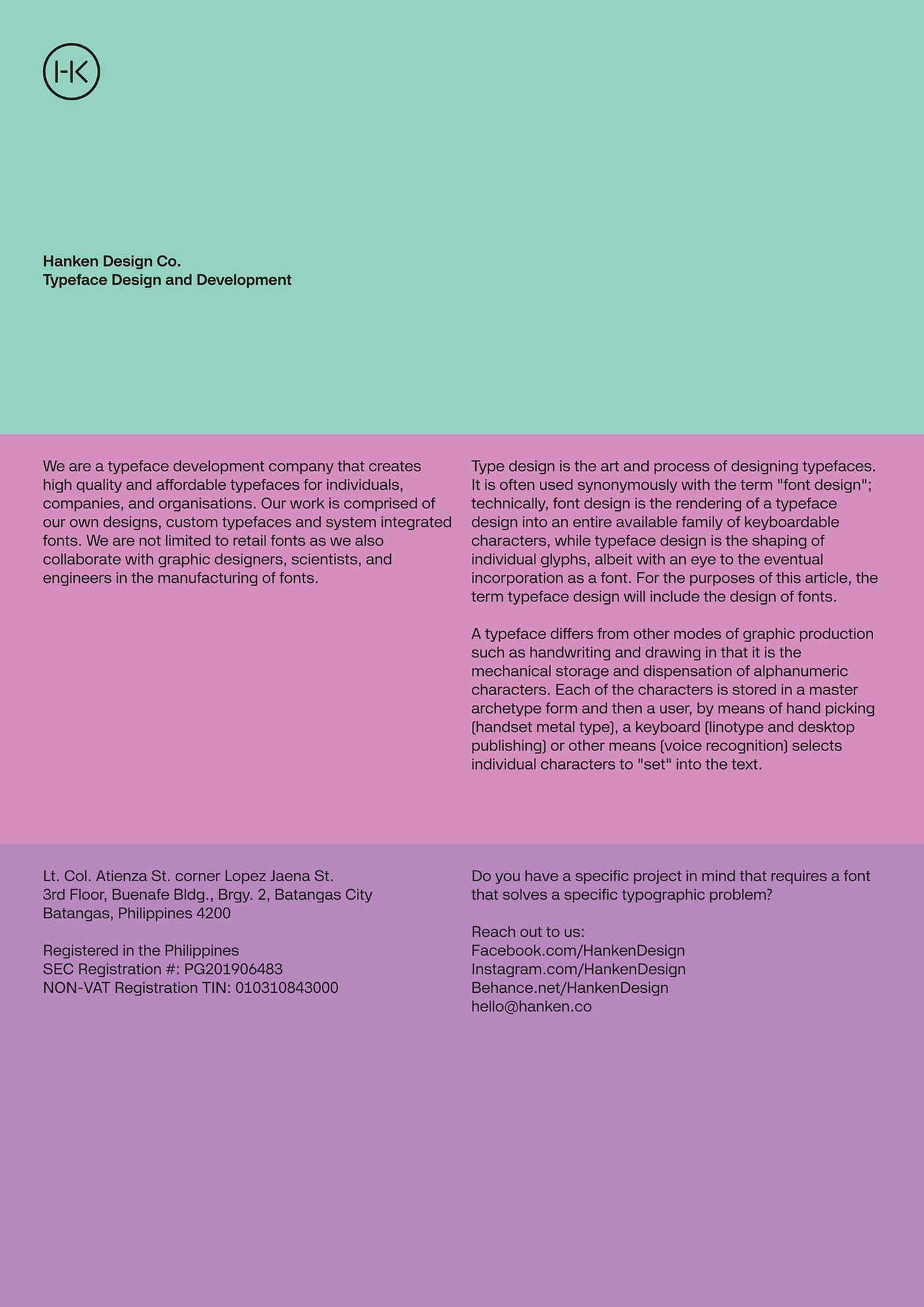 TEG™ Typeface on Behance