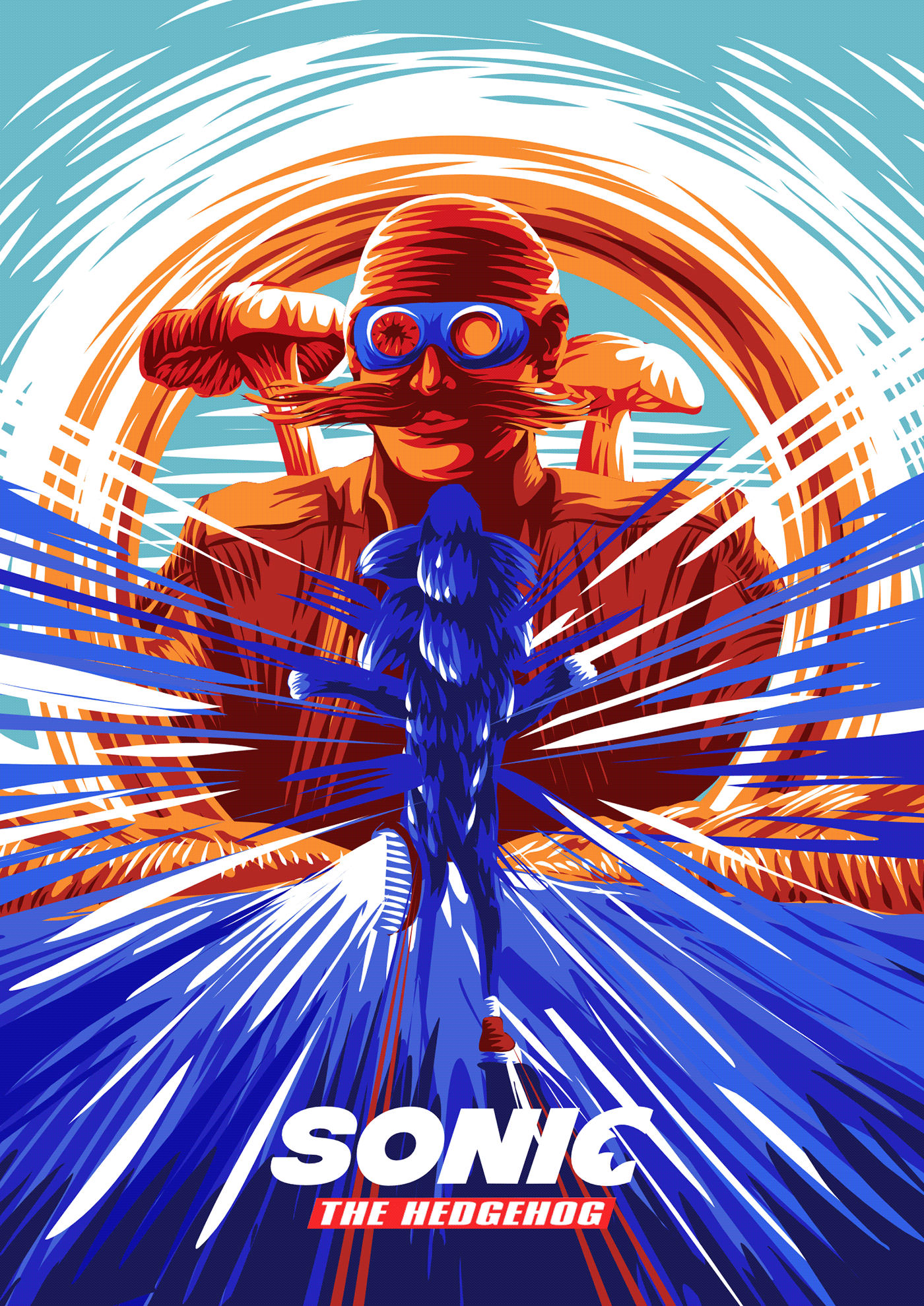 Sonic The Hedgehog Official Alternative Movie Poster On Behance