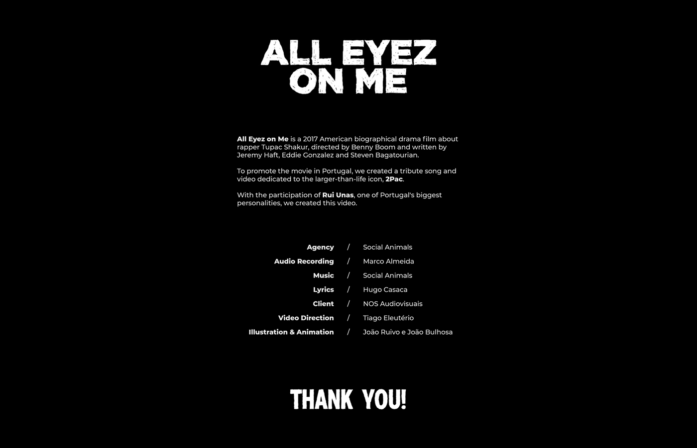 All Eyez on Me - Project