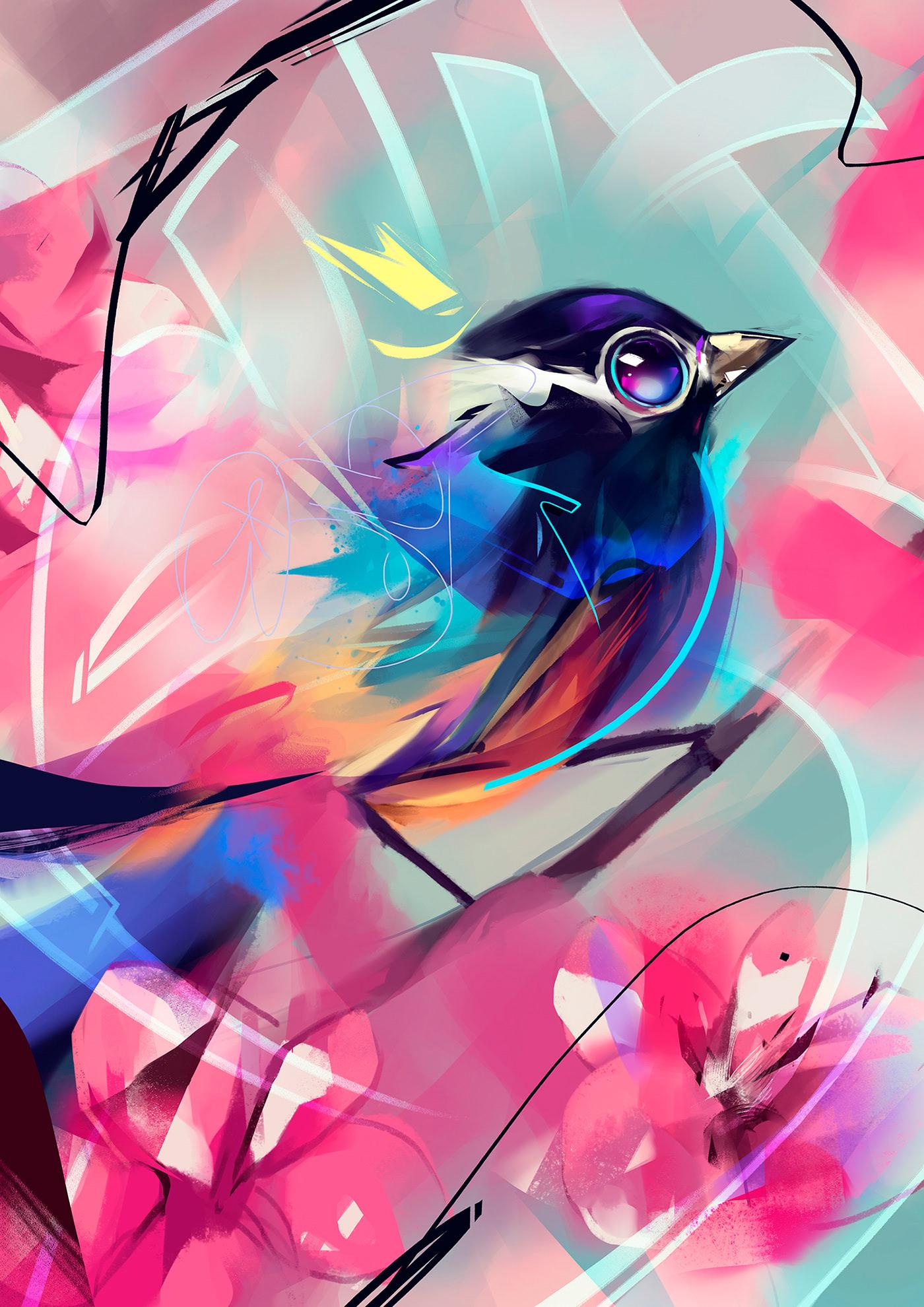 Animal Painting Studies by Guilherme Asthma