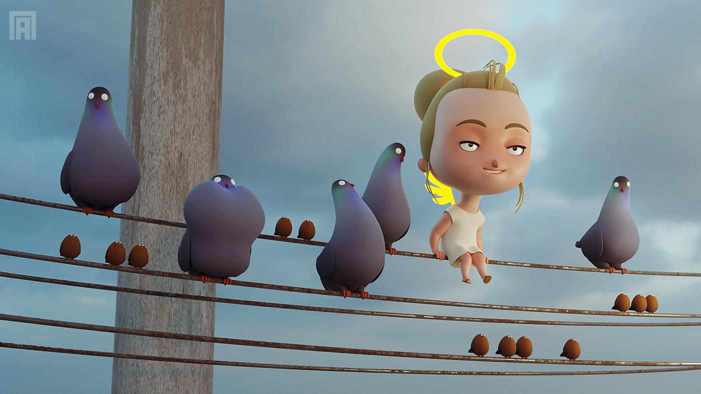 Angel OK 3D graphics by Viktor Pyatkin