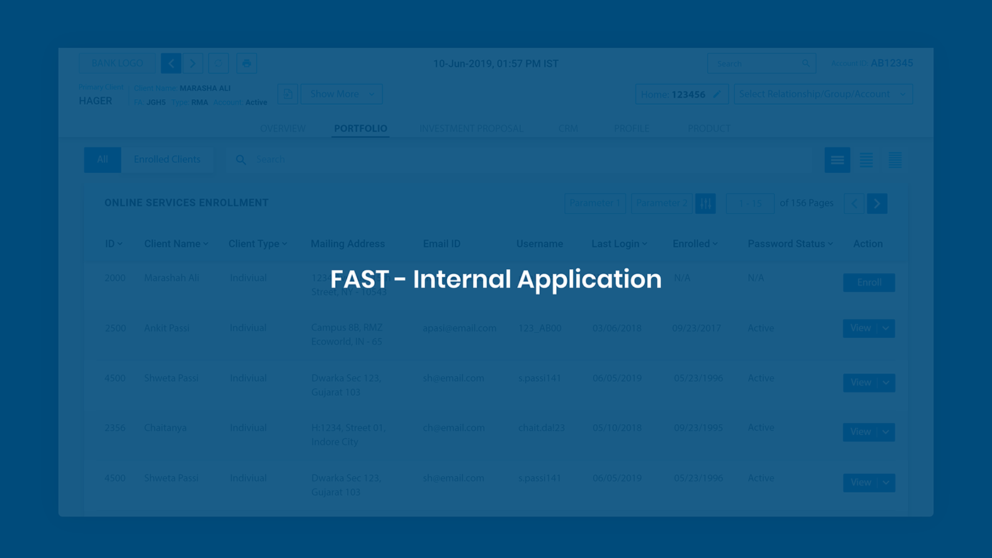 FAST Internal Application - Design Process
