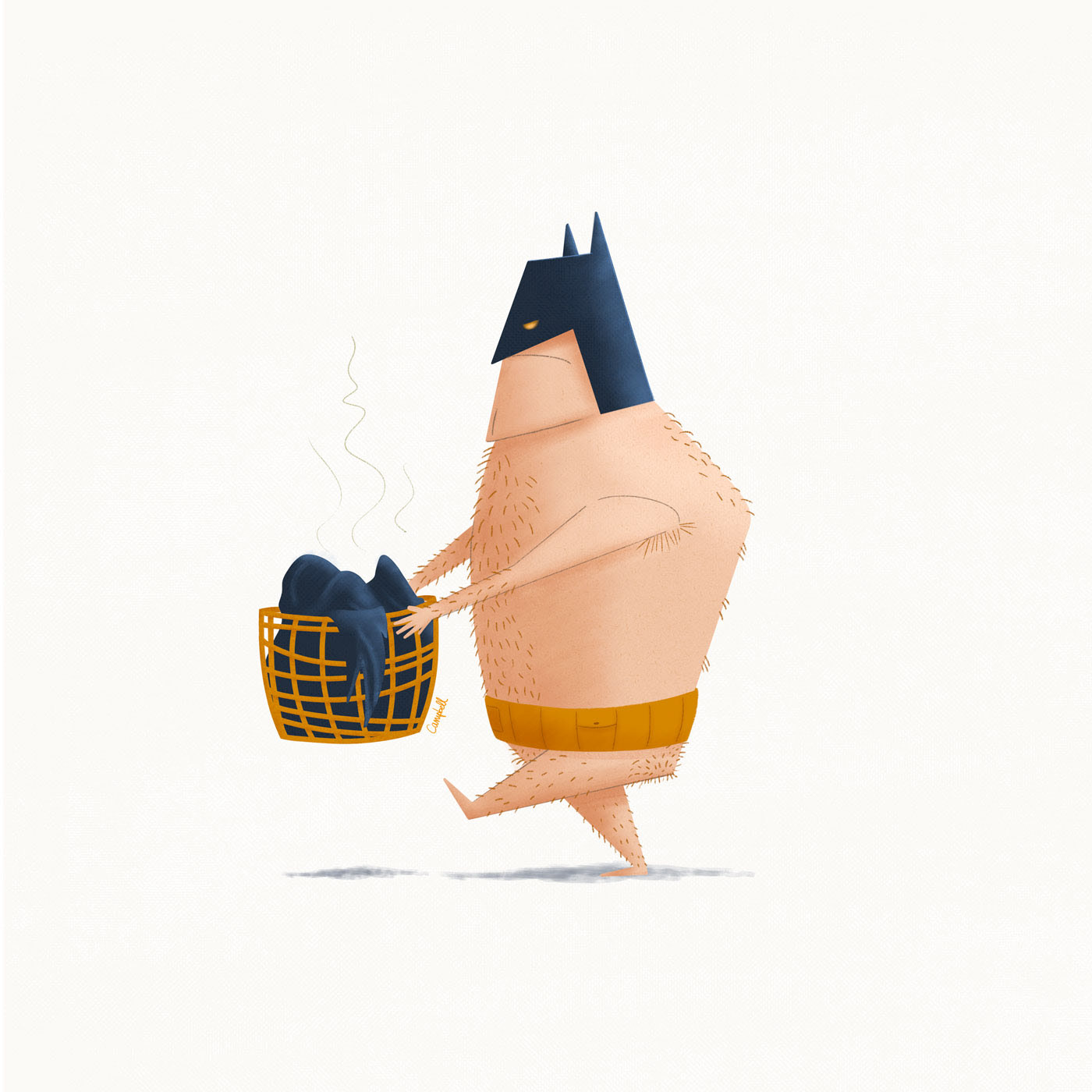 Imagining the daily life of Batman - Batlife Illustrations