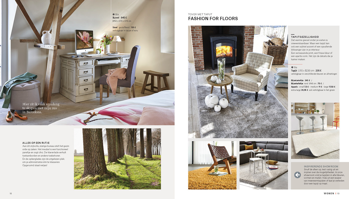 Klein Design Bijzettafeltje.Euroshop Woonboek On Behance