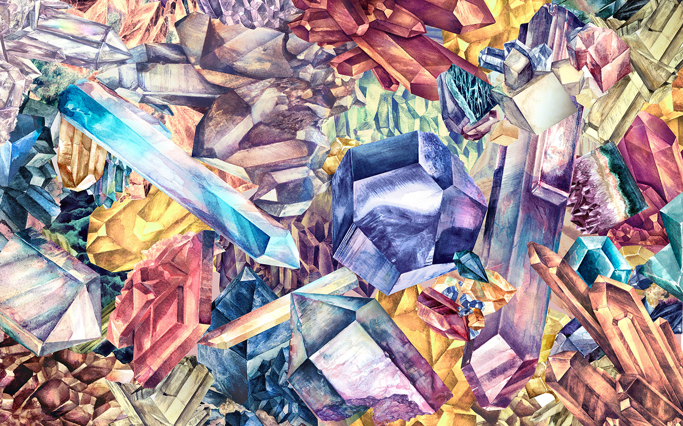 включен, постеры с кристалами все благородно, вкусом