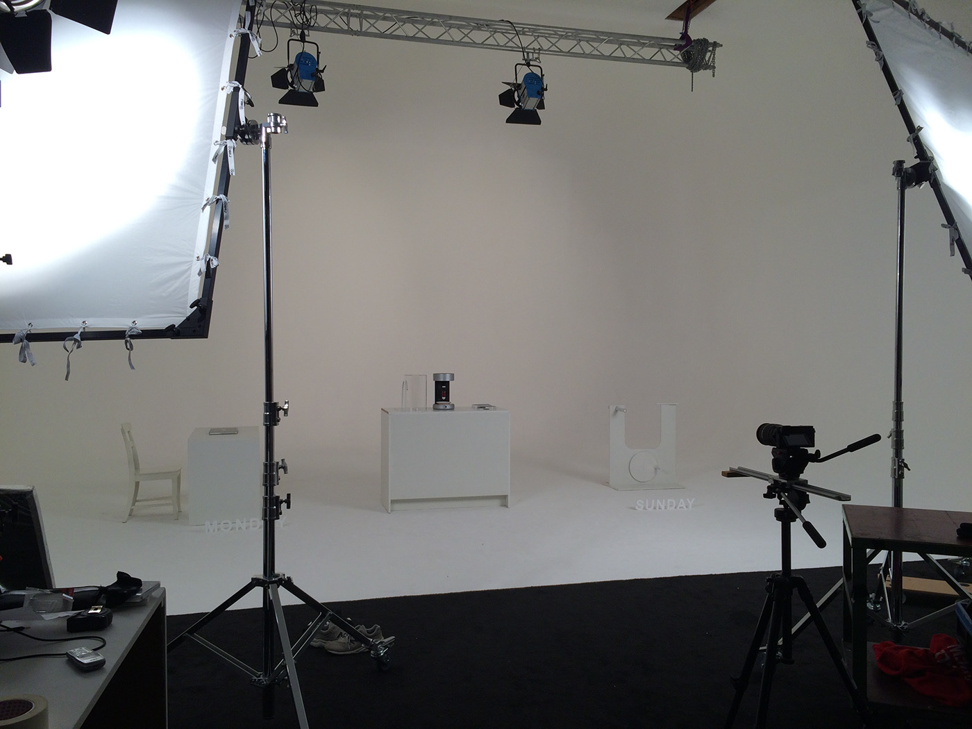 View of the studio shoot